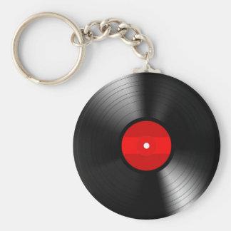 Llavero del disco de vinilo del vintage