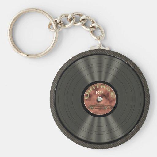 Llavero del disco de vinilo (red) del vintage