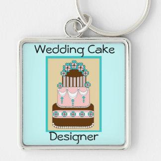 Llavero del diseñador del pastel de bodas