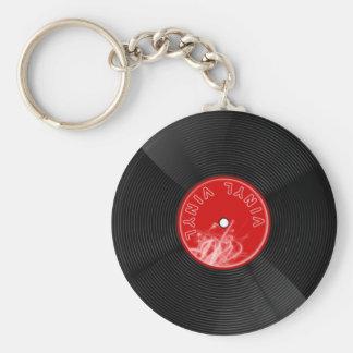 Llavero del expediente del disco del vinilo