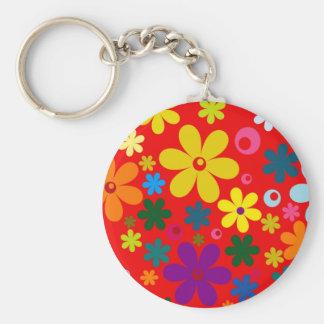 Llavero ~~ del FLOWER POWER (un diseño floral colorido