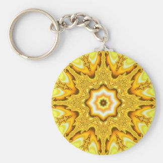 Llavero del fractal de la estrella del oro