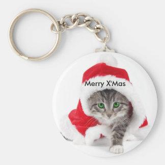 Llavero del gato del navidad