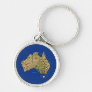 Llavero del mapa de Australia