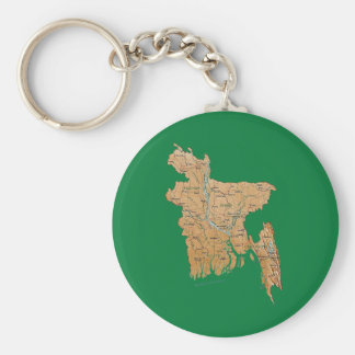 Llavero del mapa de Bangladesh