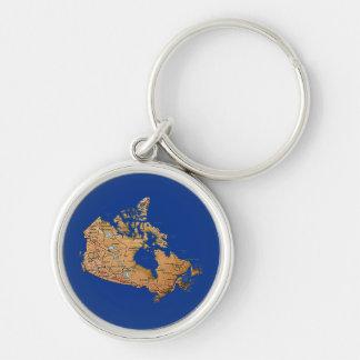 Llavero del mapa de Canadá
