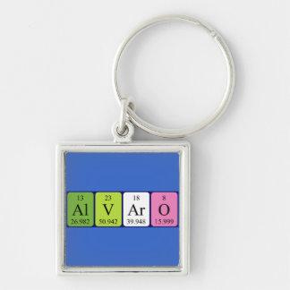 Llavero del nombre de la tabla periódica de Álvaro
