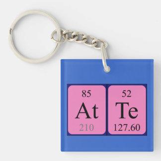 Llavero del nombre de la tabla periódica de Atte