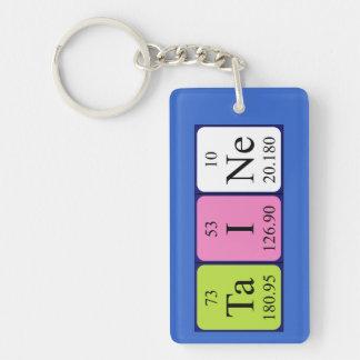 Llavero del nombre de la tabla periódica de Taine