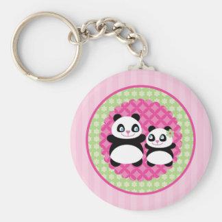 Llavero del oso de panda del chica