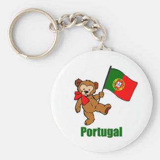 Llavero del oso de peluche de Portugal