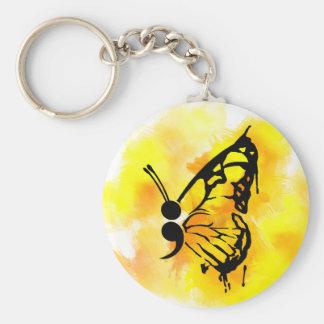 Llavero del punto y coma de la mariposa