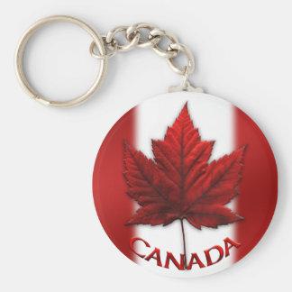 Llavero del recuerdo de la bandera de Canadá y