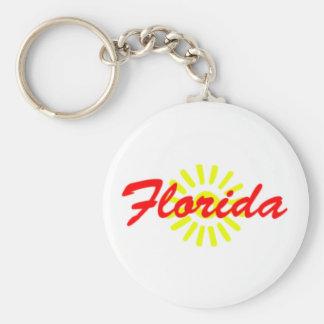 Llavero del recuerdo de la sol de la Florida