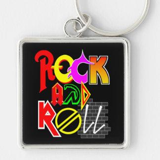Llavero del rock-and-roll (negro)