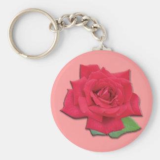 Llavero del rosa rojo