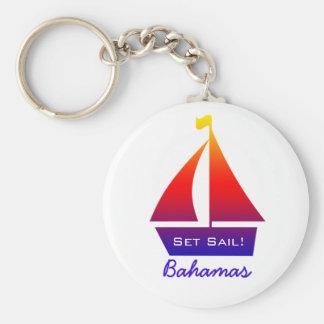 Llavero del velero de Bahamas
