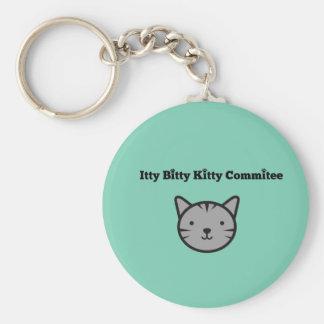 Llavero deshilvanado del comité del gatito de Itty