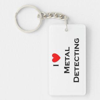 Llavero Detección del metal del amor; Dólar de plata