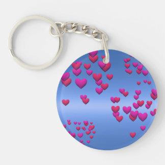 Llavero Día de San Valentín y azul de cielo