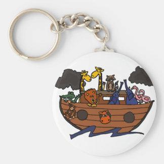 Llavero Dibujo animado de la arca de Noah divertido