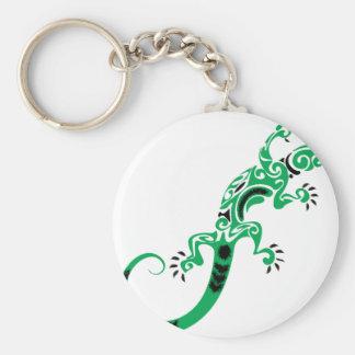 Llavero Dibujo del lagarto verde