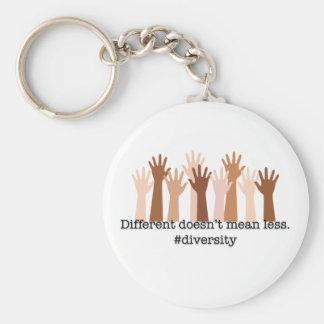 Llavero Diferente no significa menos: Diversidad