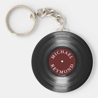 Llavero disco de vinilo con mi nombre