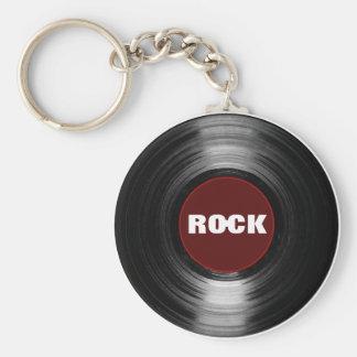 Llavero disco de vinilo de la roca
