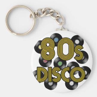 Llavero discos de vinilo del disco 80s