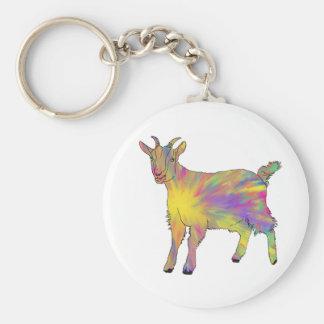 Llavero Diseño animal del arte de la cabra artsy divertida
