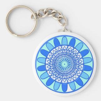 Llavero Diseño azul elegante de la joya de la chispa