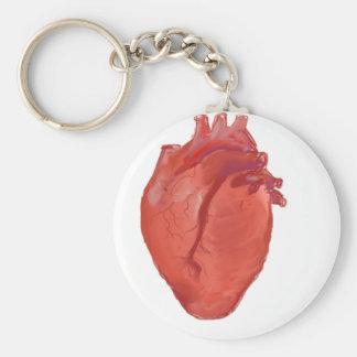 Llavero Diseño de la anatomía del corazón