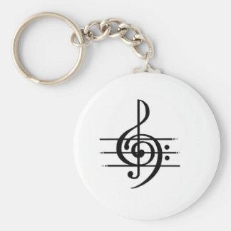 Llavero Diseño de la nota musical