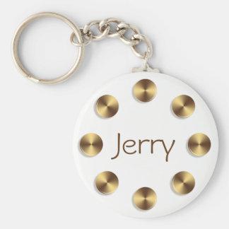 Llavero Diseño de oro de los círculos. Nombre