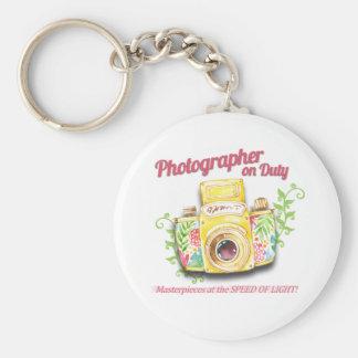 Llavero Diseño de servicio de la cámara del vintage del