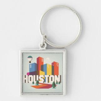 Llavero Diseño del paisaje urbano de Houston, Tejas el |