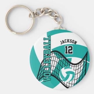 Llavero Diseño del trullo, blanco y negro del voleibol
