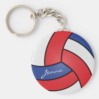 Llavero Diseño rojo, blanco y azul del voleibol