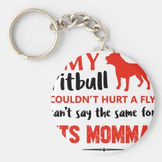 Llavero Diseños divertidos de la mamá del pitbull