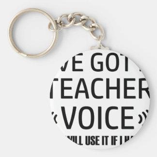 Llavero Diseños divertidos de la voz del profesor
