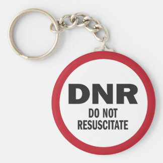 Llavero DNR no reaniman médico