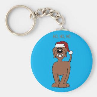 Llavero Doodle marrón Santa