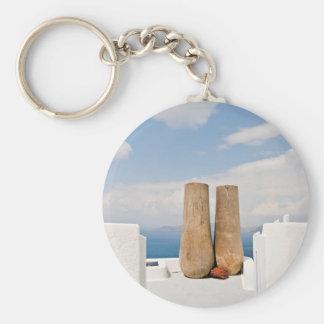 Llavero Dos potes grandes en la isla de Santorini