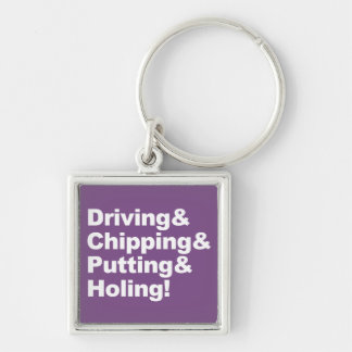 Llavero Driving&Chipping&Putting&Holing (blanco)
