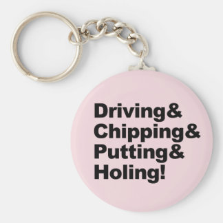 Llavero Driving&Chipping&Putting&Holing (negro)