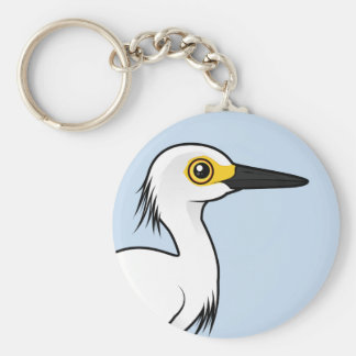 Llavero Egret nevado de Birdorable