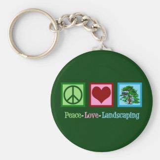 Llavero El ajardinar del amor de la paz