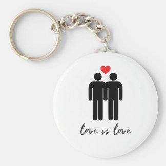 Llavero El amor es amor (los hombres) + Corazón