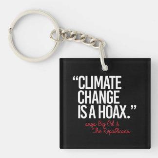 Llavero El cambio de clima es broma dice el aceite grande